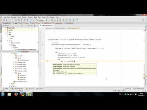 Develop simple File Downloader in Android Studio