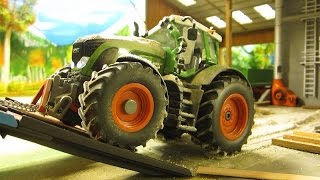 RC TRACTOR  destroyed in 1 second - rc toys in action