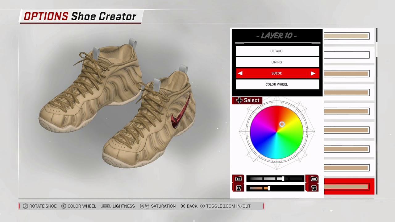 NBA 2K18 Shoe Creator - Nike Foamposite Pro