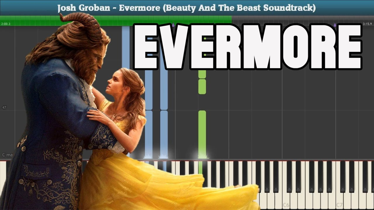 Evermore Piano Tutorial Free Sheet Music Josh Groban Beauty And The Beast Soundtrack