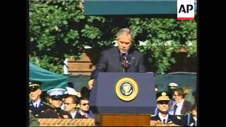 Bush at chairman of the Joint Chiefs departing ceremonies