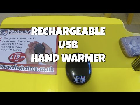 Usb Rechargeable Hand Warmer Hotrox Youtube