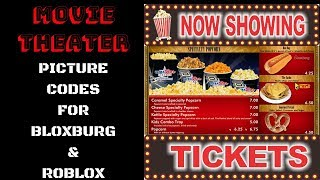 Bloxburg and Roblox Picture codes. ( Movie theater)