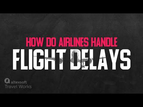How do airlines handle flight delays