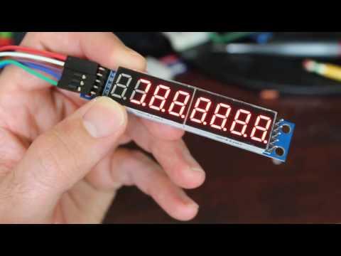 Arduino 7 Segment Display Max7219 Tutorial