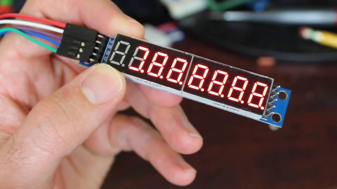 Arduino 7 Segment Display Max7219 Tutorial on