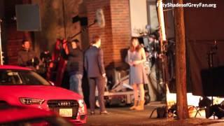 Jamie Dornan and Dakota Johnson (+ Max Martini) - FSOG HD BTS