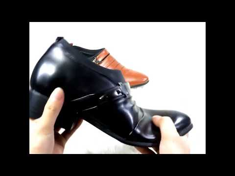 Giày tăng chiều cao 6cm sang trọng làm từ da bò thật DAV09