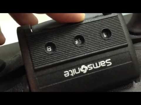 How To Set Samsonite Suitcase Lock Youtube