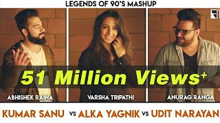 Legends Of 90's Bollywood Songs Mashup , Anurag Ranga , Abhishek Raina , Varsha Tripathi , 90's Hits