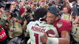 Tua Tagovailoa, Kyler Murry hug after Orange Bowl