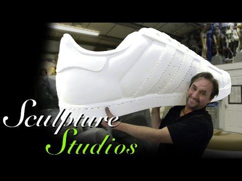 Adidas Polystyrene / Styrofoam Shoe by Sculpture Studios