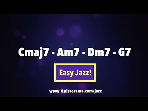 C Major Jazz Backing Track - Medium Swing 1-6-2-5