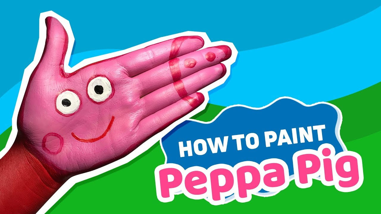 Tutorial: How to paint Peppa Pig on your hand 🐷 Jak namalować Świnkę Peppę na ręce 🐖