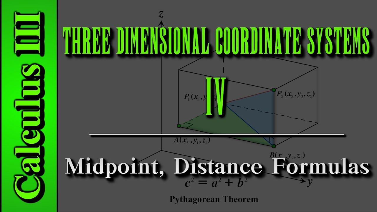 Calculus III: Three Dimensional Coordinate Systems (Level 4 of 10) | Midpoint, Distance Formulas