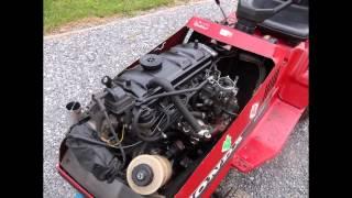 tracteur tondeuse avec moteur 205 TU
