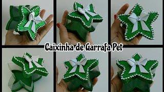 Caixinha de Garrafa Pet em Formato de Estrela