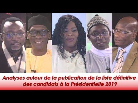 Analyses autour de la publication de la liste définitive  des candidats à la Présidentielle 2019