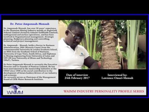 Meet Executive Director Dr. Peter Amponsah Mensah, PAMICOR Ltd - Ghana