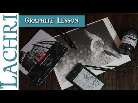 Cockatiel Graphite pencil and powder Drawing Lesson - Art tips w/ Lachri