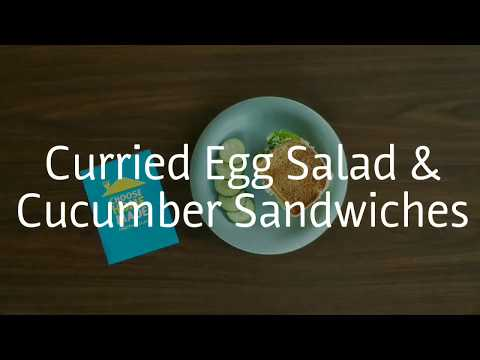 Curried Egg Salad & Cucumber Sandwiches
