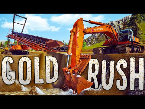 Building A New Open-Pit Gold Mine - Our Richest Paydirt Yet! - Gold Rush The Game