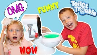 Toilet Trouble Gone Wrong || Family Game Night