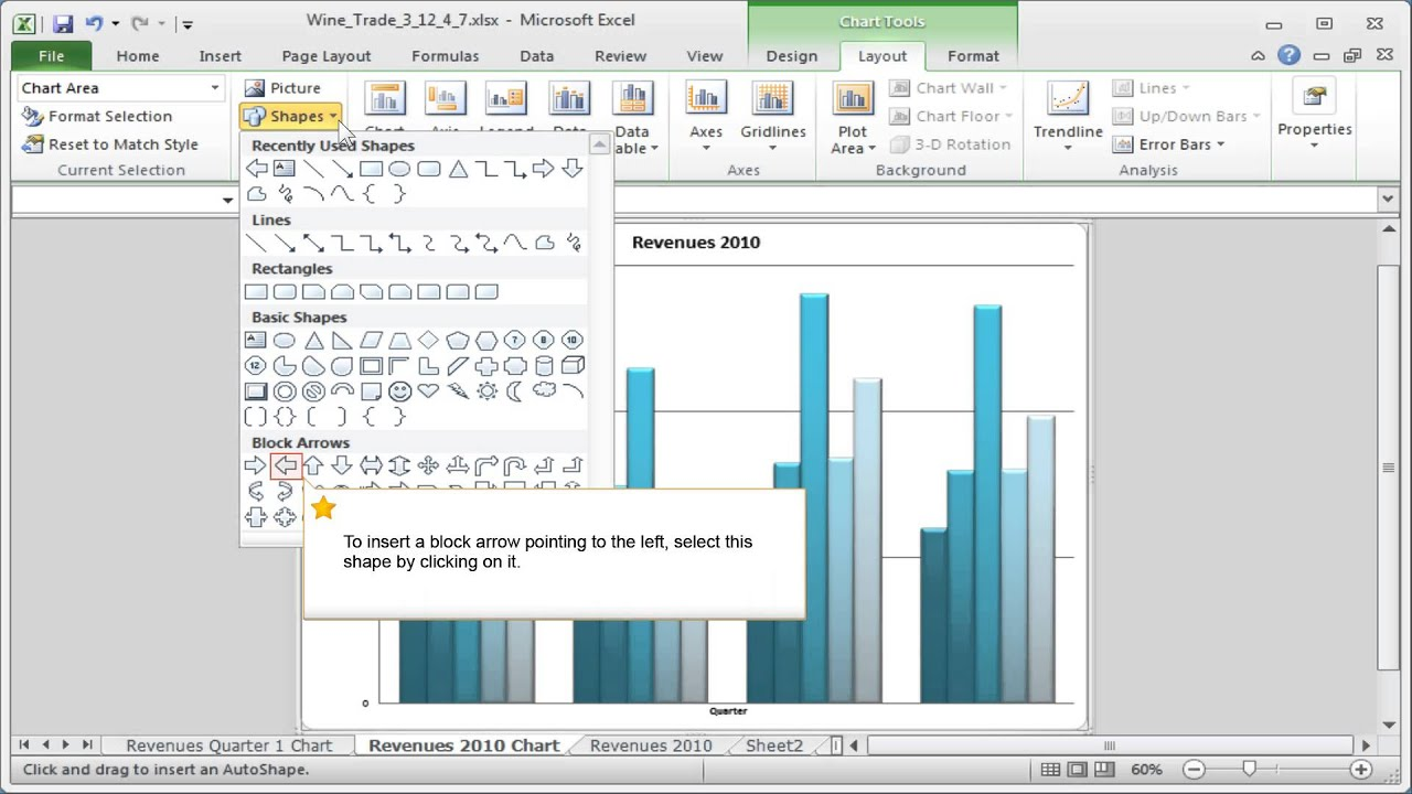 Excel inserting pictures shapes or text boxes into a chart youtube excel inserting pictures shapes or text boxes into a chart ccuart Gallery