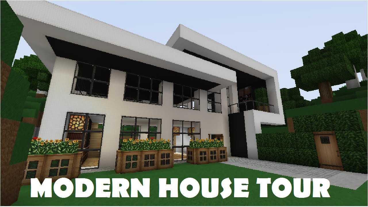 Minecraft Small modern house Tour YouTube