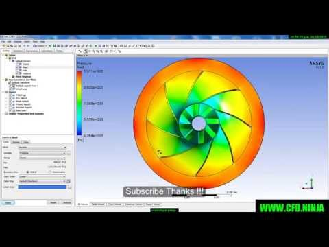 ANSYS CFX - Tutorial Centrifugal Pump - Part 1