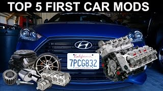 TOP 5 FIRST CAR MODS Veloster Turbo Edition.