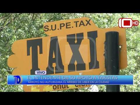 Móvil en vivo: El Intendente Arroyo da su apoyo a los taxistas