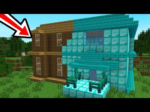 NOVA CASA DO JP SE TRANSFORMOU EM DIAMANTE NO MINECRAFT !