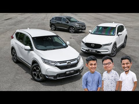 DRIVEN 2018: Honda CR-V vs Mazda CX-5 vs Peugeot 3008 SUV - Malaysian review