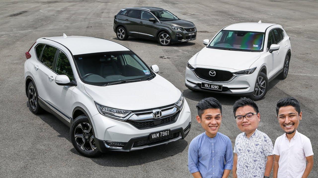 DRIVEN: Honda CR-V vs Mazda CX-5 vs Peugeot 3008 Malaysian review