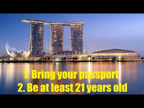 How to enter a casino in Singapore - featuring Marina Bay Sands