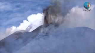 INGV: Etna, riprese video attività eruttiva al Nuovo Cratere di Sud-Est, 15 marzo 2017