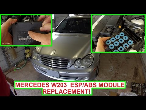 Mercedes W203 ESP ABS Module Replacement  ABS Light ESP Light on C180 C200  C230 C240 C270 C280