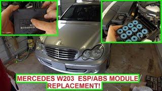 Mercedes W203 ESP ABS Module Replacement.  ABS Light ESP Light on C180 C200 C230 C240 C270 C280