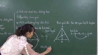Toán 9: [Hình học]- Đường tròn ngoại tiếp tam giác vuông, tam giác đều.