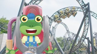 The Rollercoaster Ride | Gecko's Real Vehicles | Vehicles For Kids | Learning For Kids