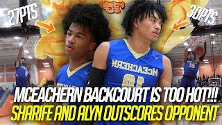 SHARIFE and ALYN OUTSCORE OPPONENT BY THEMSELVES!!! | McEachern Backcourt is TOO HOT