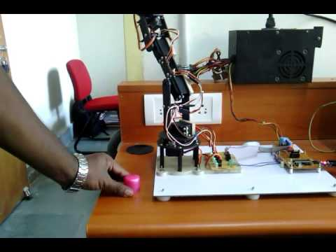 Automatic Robotic Arm Movement Pick and Place in a Pre-programmed Way