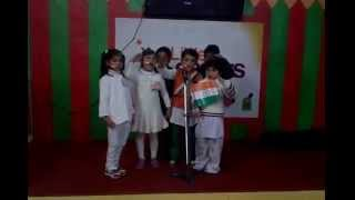 LLPS - Small Kids singing patriotic song on stage