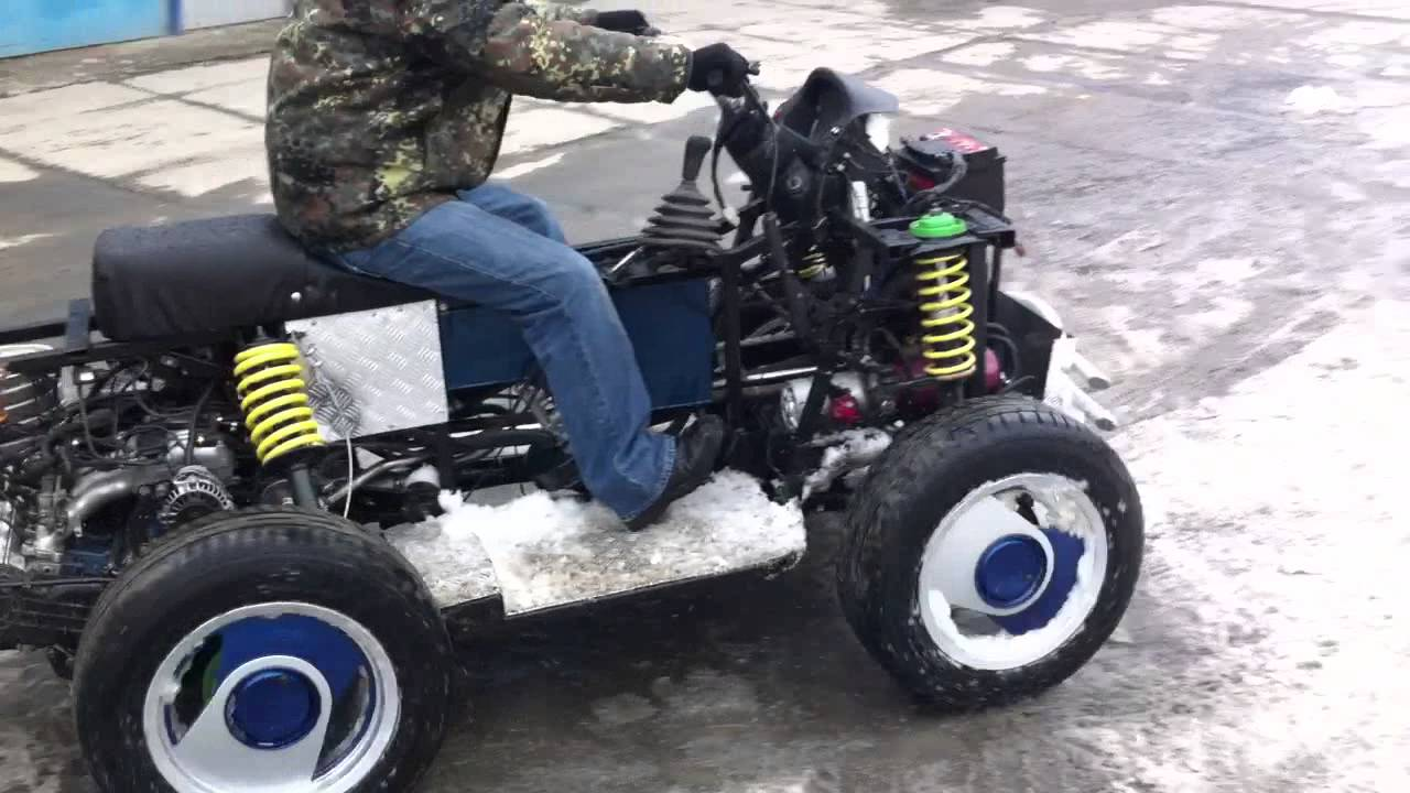 Квадроцикл своими руками ютуб