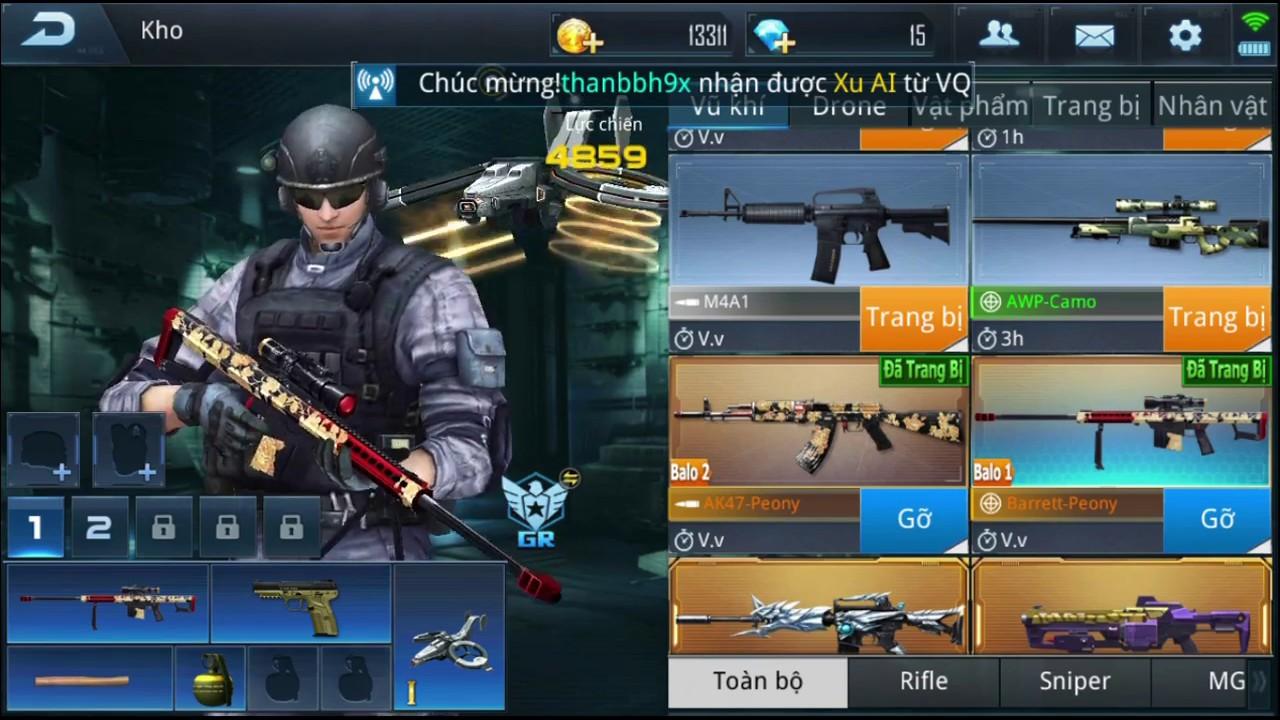 3z Peony, AK 47 Peony (Hàng Báu Vật không bán trong Shop) Phục Kích Mobile  - Treo Bán