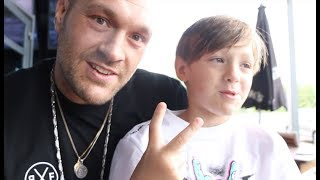 TYSON FURY SON PRINCE'S RESPONSE TO WHAT HIS DAD WILL DO TO SEFER SEFERI IS PRICELESS!