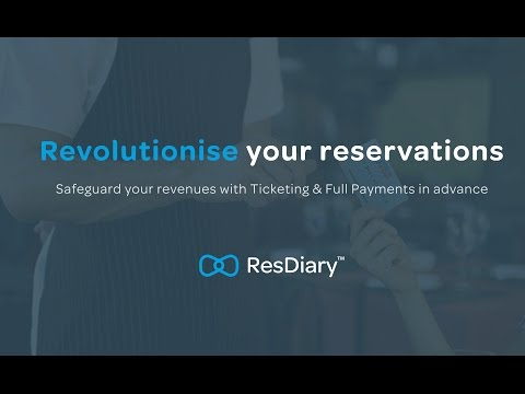 Tickets, Full Payments, Deposits and Variable Pricing from ResDiary