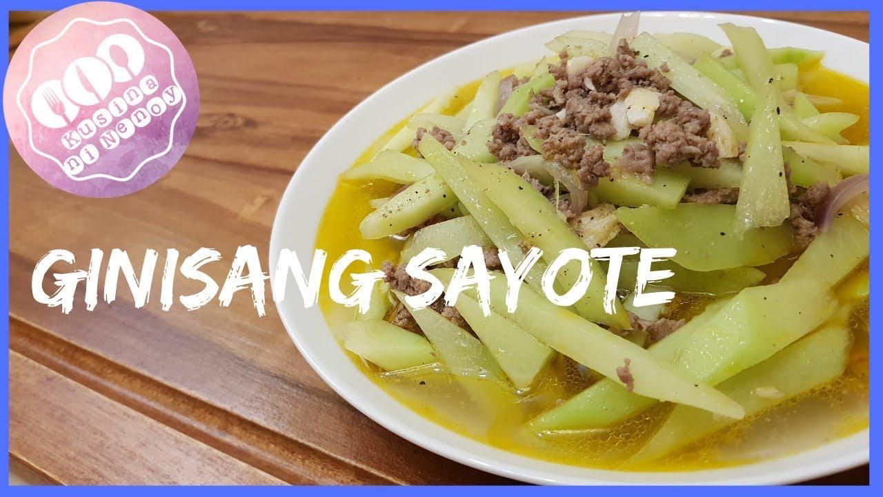 Ginisang Sayote Ulam Below 100 Pesos Filipino Vegetable Recipe Healthy Dish Panlasang Pinoy Youtube