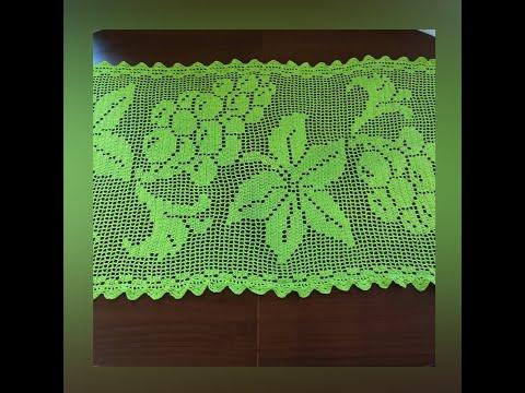 Схемы филейного вязания крючком салфетки